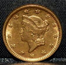 1854-P $1 GOLD DOLLAR ✪ AU DETAILS ✪ ABOUT UNC TYPE 1 T1 L@@K NOW ◢TRUSTED◣