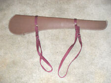 RIFLE SCABBARD, CASE, HOLSTER, BRN WAXED LEATHER W/ MTG STRAPS, HORSE, ATV ETC