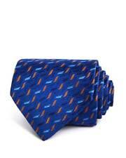 $225 TURNBULL & ASSER Men's BLUE GOLD CLASSIC DRESS SKINNY SLIM NECKTIE 59x3.75
