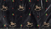 Vintage Carousel Horse Christmas Gift Wrap Hallmark Holiday Wrapping Paper Heart