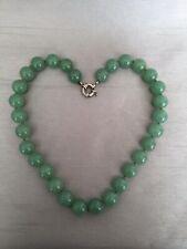 Vintage Jade Jadeite Bead Necklace 126g
