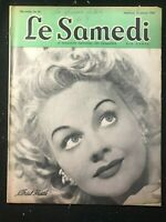 LE SAMEDI French Canadian Magazine - Jan 1943 - ARIEL HEATH / Hockey Stars