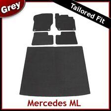 Tailored Carpet Floor & Boot Mats for MERCEDES ML W164 Mk2 2005-2011 GREY