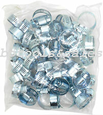 """100 Pc 1/4"""" - 5/8"""" Hose Clamp Worm Gear Hose Pipe Fitting Clamp Assortment Kit"""