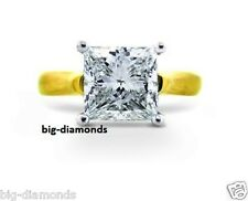 2.00 Ct Big Solitaire Princess Cut J Si2 Diamond Engagement Ring 14K