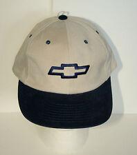 GM Chevrolet Chevy Bowtie Tan / Blue Baseball Cap Hat New OSFM Sample