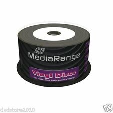 50 MEDIARANGE CD -R BLACK DYE 52x VINYL STAMPABILI cdr cd r ck 50 mr226 vinile