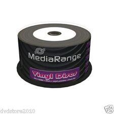 50 MEDIARANGE CD -R BLACK DYE 52x VINYL STAMPABILI cdr cd r ck 50 mr226 vinile
