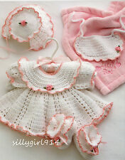 """""""4~ADORABLE BABY SETS""""~Annie's Attic CROCHET PATTERN BOOK ONLY~SEE PICS"""