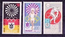URUGUAY SC#C382-384 MNH STAMPS Munich 1972 Olympic Games discobolus sculpture