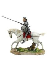9 Inch Don Quixote de la Mancha Statue Riding Horse Spain Jousting Sculpture