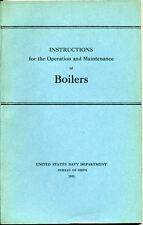 BOILERS Bureau of Ships Navy Manual Asbestos 1943 WWII Naval Gaskets Marine