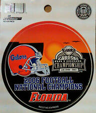 "Florida Gators 2006 Football National Champions 4"" Round Decal University of"