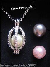 AVON versilberte Halskette Salerio mit auswechselbaren Glassteinen  NEU