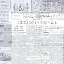 Black White Newspaper Print Gazette Wallpaper Paste Wall Vintage Fine Decor