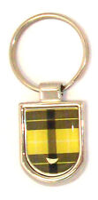 Scottish Small Yellow Tartan Shield Purse Keyring Charm