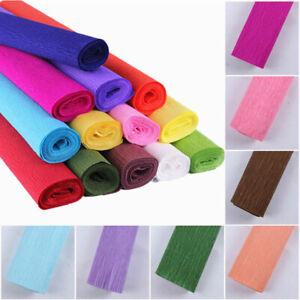 "Crepe Paper Roll Sheets Coloured Craft Paper Florist Paper 20""x98"" 20 Colours"
