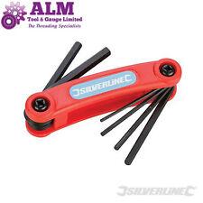 Silverline 1.5 - 6mm Folding Hex Key Set Allen Keys Metric Pocket Tool