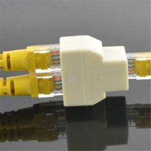 RJ45 1 to 2 LAN ethernet Network Cable Splitter Extender Plug adapter connector@