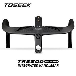 TOSEEK Full Carbon Fiber Road Bike Integrated Bar Stem Drop Bar Handlebar 28.6mm