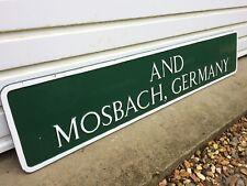 Lymington Street Sign Twinned Mosbach Germany Twin Town Rare Original Cast