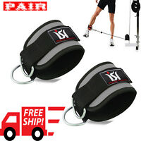 Exercise Ankle Straps Weight Lifting Gym D Ring Cable Attachment Strap Work out