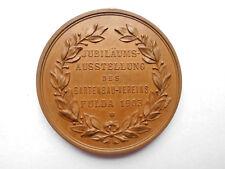 Fulda, Jubiläums-Ausstellung des Gartenbau-Vereins 1903, Bronze Medaille #MH062