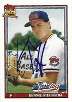 Autographed 1991 Topps Traded #113T-Kennie Steenstra Chicago Cubs