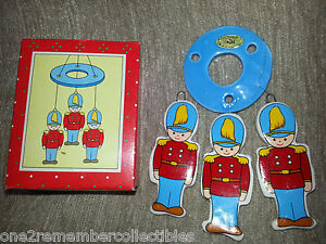 RUSS Miniature HOLIDAY WIND CHIME Toy Soldier CHRISTMAS Porcelain VINTAGE New