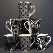 A SET OF SIX 6 WARLI CONICAL FINE BONE CHINA MUGS CUPS BEAKERS TO CLEAR