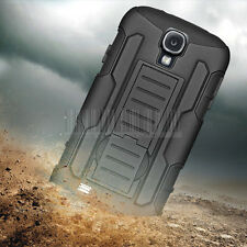 For Samsung Galaxy S4 Armor Shockproof Rubber Hybrid Belt Clip Phone Cover Case