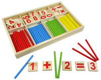 1x Kids Child Wooden Numbers Mathematics Early Learning Counting Educational  gh