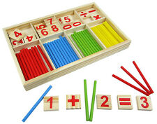 Wooden Montessori Mathematics Material Early Learning Counting Toy for Kids H