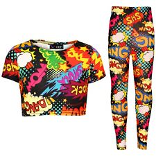 Infantil Wow Bang Auge Cultivo Top Camiseta Leggings Ropa Cómoda Set Conjunto