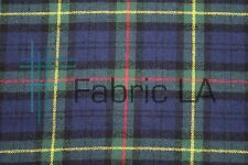 "Cotton Flannel Plaid Tartan Fabric By The Yard # 33 - 60""W"