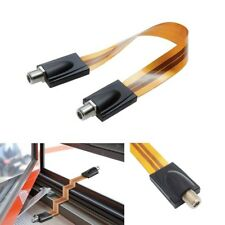 RG6 1FT Flat Coaxial Type F Jumper Cable TV for Windows and Doors GHOST WIRE NEW