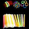 """100 Pcs 8"""" Glow Sticks Bracelets Necklaces Fluorescent Neon Party Wedding Magic"""