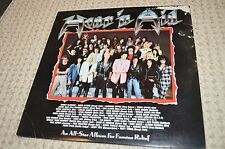 Hear N' Aid Dio Iron Maiden Heavy Metal Glam Rock Record LP Mercury 1986 VTG 80s
