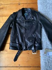 Schott 519 Perfecto Leather Motorcycle Jacket Size M One Star Pebbled Steer Hide