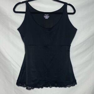 SPANX Black Lace Trim Slimming Cami Top Size 1X
