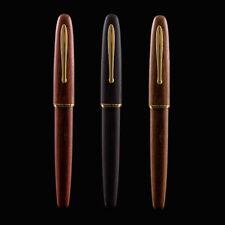 New ListingHongdian 660 Wood Fountain Pen Handmade Natural Wooden Jupiter Lucky Star Ef/F