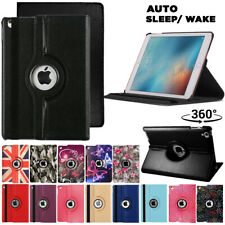 Leather 360 Rotating Smart Stand Case Cover For iPad 1/2/3/4/5 Air Pro 12.9 2020