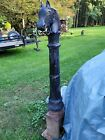 Antique Victorian Cast Iron Horse Head Double Ring Buggy Carriage Hitching Post