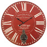 Large French Style Red Morin Pere & Fils Wall Clock with Pendulum - BNIB