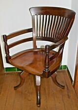 E.W. Godwin Arts and Crafts James Peddle Walnut Captain's Swivel Desk Chair