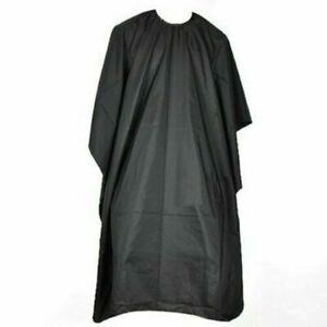 Hair Cutting Barbers Apron Gown Cape Cover Salon Hairdresser Black Waterproof