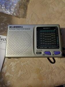 Works BELL & HOWELL SHORTWAVE RADIO AM/FM MW SW 9 BAND WORLD RECEIVER MW.SW1-7