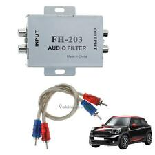 Audio Male to Male 2 RCA Ground Loop Isolator Noise Audio Filter Stereo Amp