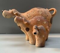 Set of 3 Standing Happy Doggie Dogs Figurine Ornament Gift Size H10cm x W12cm