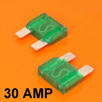 High Quality 2 x 30 Amp Maxi Blade Fuse Fuses Green 30A Car Van Bike Large Fuse